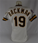 Wally Backman 1989 Pittsburgh Pirates Game Used Jersey