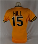 Donnie Hill 1986 Oakland As Game Used Jersey