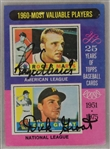 Roger Maris & Dick Groat Autographed 1975 Topps Card #198