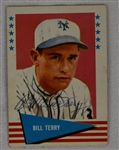 Bill Terry Autographed 1961 Fleer Card #142