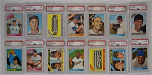 Vintage 1966 Collection of 28 High Grade Baseball Cards PSA 7 8 & 9
