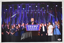Donald Trump Autographed 11x14 New York Rally Photo PSA/DNA