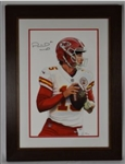 Patrick Mahomes Original James Fiorentino Watercolor Painting *Signed by Mahomes*