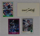 Collection of 4 Autographed Baseball Items w/Kirby Puckett