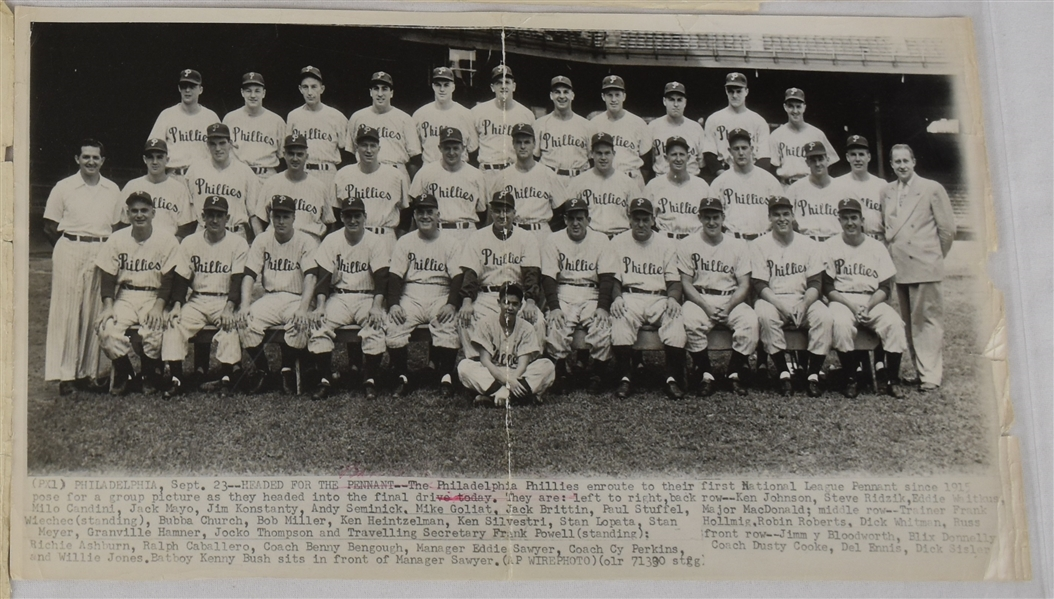 Yankees Phillies & Dodgers Original Team Photos