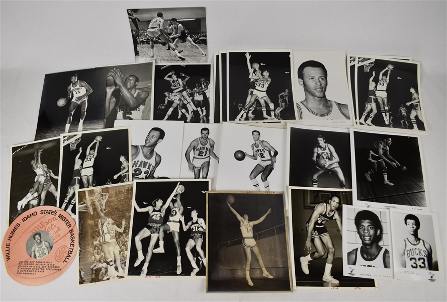 Vintage Collection of Basketball Photos w/Kareem Abdul-Jabbar & McHale Signed Photo
