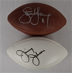 Steve Young & Jimmy Johnson Autographed Footballs