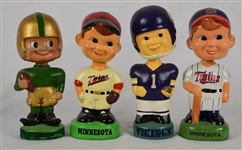 Vintage Collection of 4 Bobbleheads w/Notre Dame