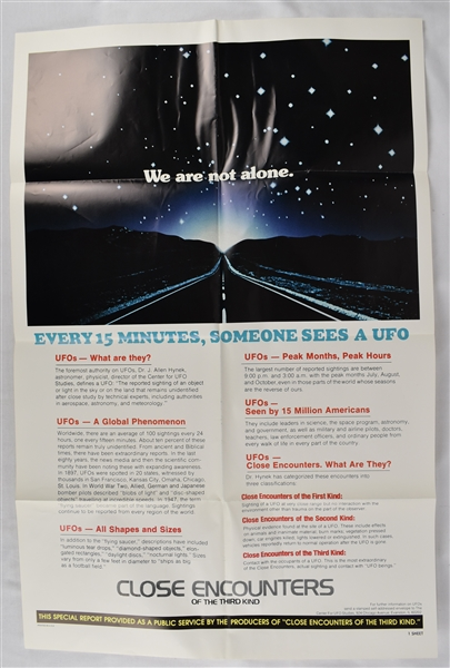 Vintage Close Encounters of the Third Kind Poster
