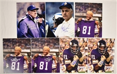Carl Eller & Bud Grant Lot of 7 Autographed 8x10 Photos