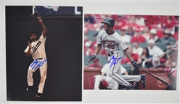 Byron Buxton Lot of 2 Autographed 8x10 Photos