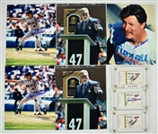 Jack Morris Lot of 8 Autographed Photos & Tickets