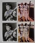 Eddie Mathews Lot of 4 Autographed 8x10 Photos