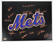 New York Mets Autographed 16x20 Photo w/14 Signatures