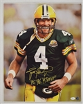 Brett Favre Autographed & Inscribed 95 96 97 MVP Photo