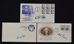 Collection of 3 Autographed First Day Covers w/Gerald Ford