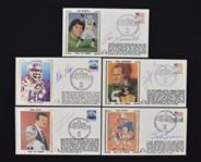 Collection of 5 NFL Autographed First Day Covers w/Joe Namath