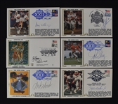 Collection of 6 Super Bowl Autographed First Day Covers w/Elway & Aikman