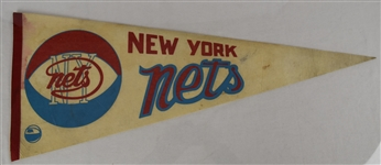 Vintage 1970s New York Nets ABA Pennant *Rare*