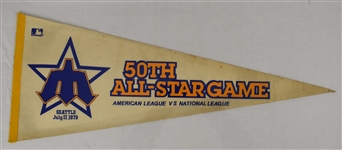 Vintage 50th MLB 1979 All Star Game Pennant