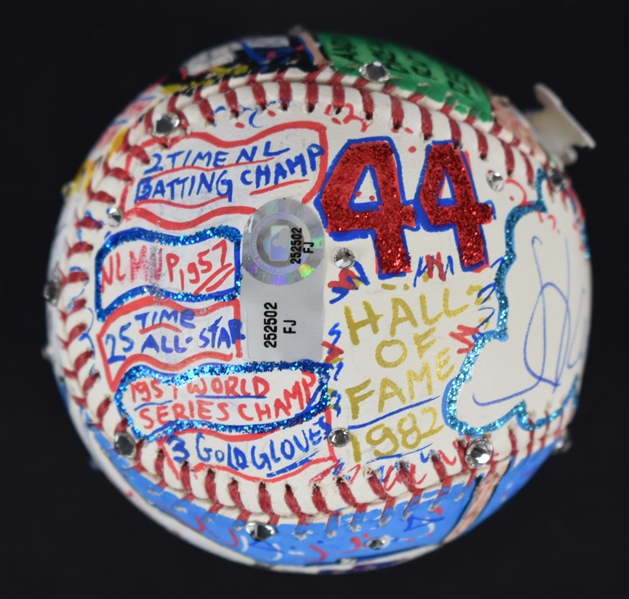 Hank Aaron One-Of-A-Kind Charles Fazzino Baseball