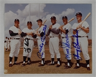 New York Yankees Autographed 8x10 Photo w/Mantle & Berra