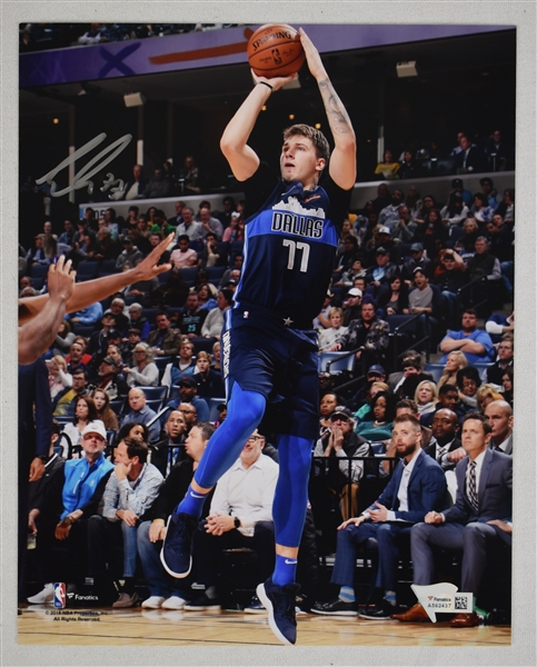 Luka Doncic Autographed 8x10 Photo