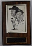 Mickey Mantle Autographed 8x10 Lithograph Plaque