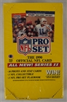 NFL 1990 Pro Set Hobby Box Series II
