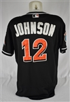 Chris Johnson 2016 Miami Marlins Game Used Spring Training Jersey