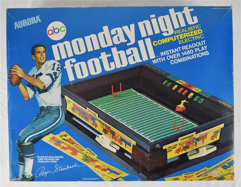 Roger Staubach Aurora 1972 Monday Night Football Game w/Original Box