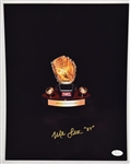Mike Lavalliere Autographed Gold Glove 16x20 Photo
