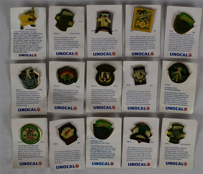 Oakland Athletics Pin Collection