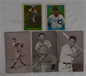Vintage Lot of 5 Autographed Baseball Cards w/Burleigh Grimes
