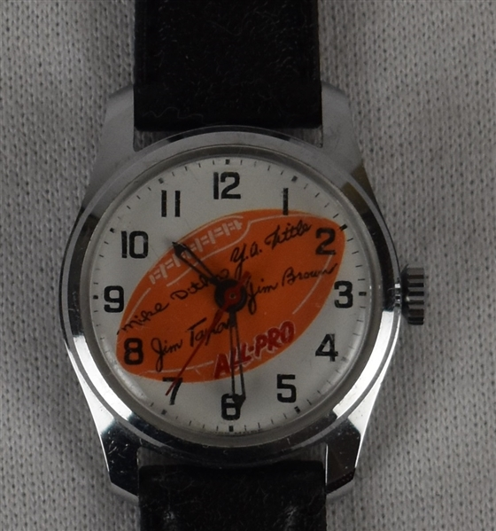 Vintage Mechanical All Pro Football Watch w/Jim Brown