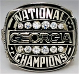 Georgia Bulldogs Vintage 1980 NCAA Football National Championship Ring