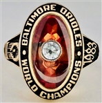 Baltimore Orioles 1983 World Series Champions 10K Gold Ring *Ladies Version*