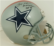 Roger Staubach Autographed & Multi Inscribed Dallas Cowboys Full Size Helmet