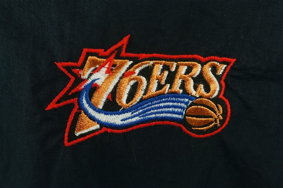 Philadelphia 76'ers c. 2001-02 Game Used Warm Up Jacket