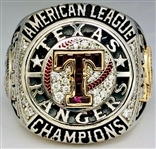 Texas Rangers 2011 World Series American League Champions 10K Gold & Diamond Ring