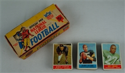 Vintage 1964 Philadelphia Complete Football Card Set EX/MT w/Original Wax Pack Box
