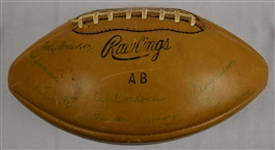 Detroit Lions 1958 Team Signed Football w/Alex Karras Rookie