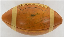 New York Giants 1963 Team Signed Football w/42 Signatures 7 HOFers w/Full JSA LOA