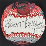 Robert Englund One-Of-A-Kind Charles Fazzino Baseball JSA LOA