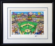 "Charles Fazzino 3-D Pop Art New York Yankees Limited Edition ""Yankee Fever"" Serigraph"