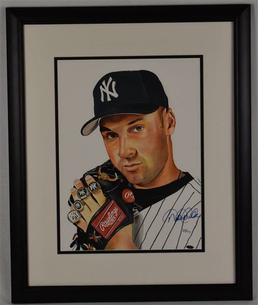 Derek Jeter Original James Fiorentino Watercolor Painting *Signed by Jeter*