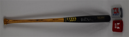 Raul Ibanez Game Used Bat & Wrist Bands