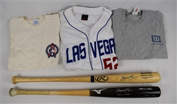 Andrew Jones Lot of 5 Game Used Bats Shirts & Jerseys