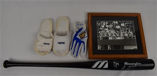 Orlando Merced Collection w/Game Used Bat Slippers & Photo