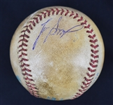 Lee Smith Game Used & Signed Last Save Game Baseball